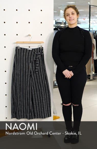 Tie Waist Stripe Wide Leg Crop Pants, sales video thumbnail