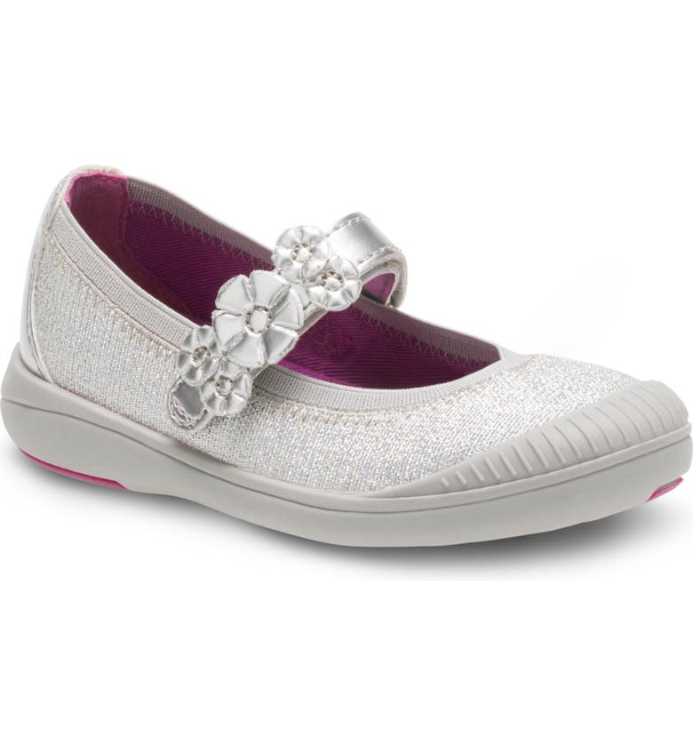 STRIDE RITE Layla Mary Jane Flat, Main, color, SILVER