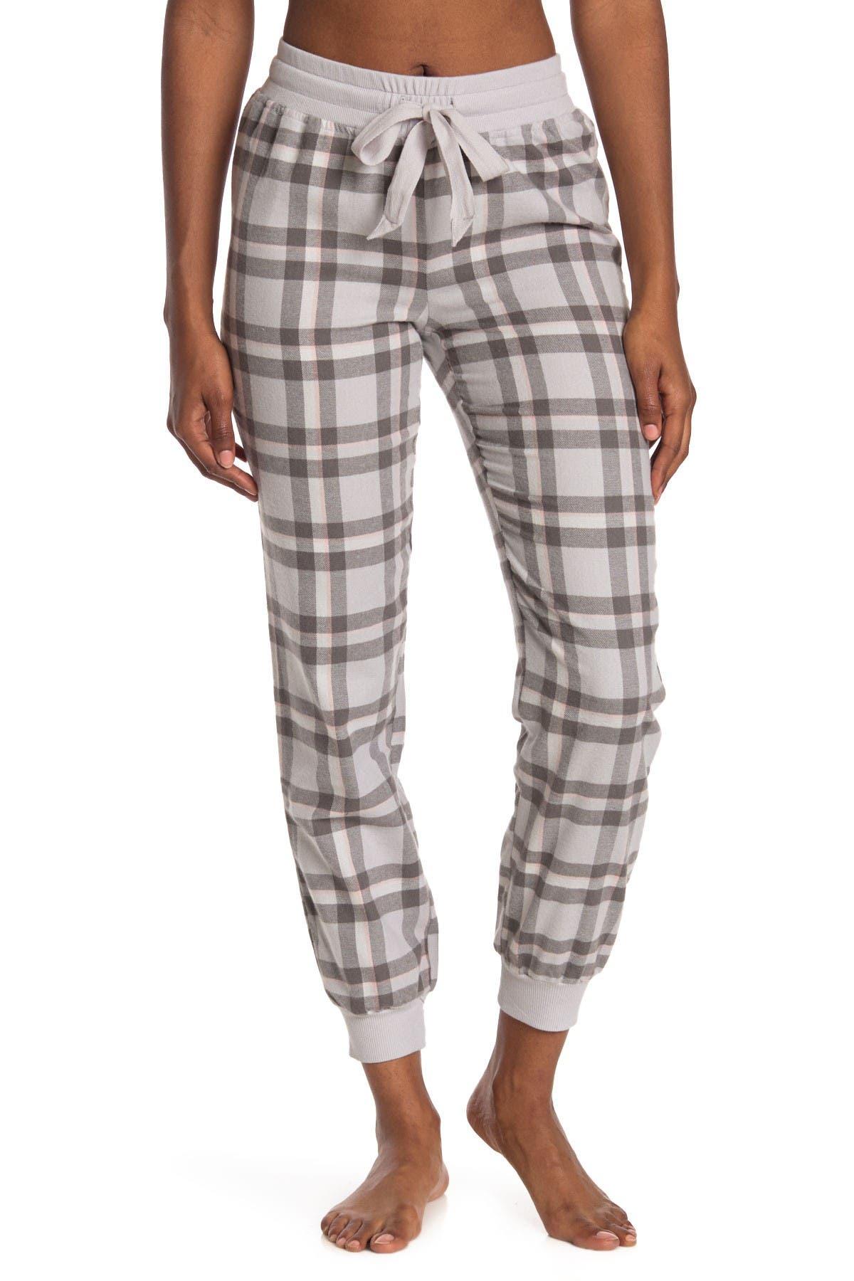 Free Press Plaid Flannel Pajama Joggers