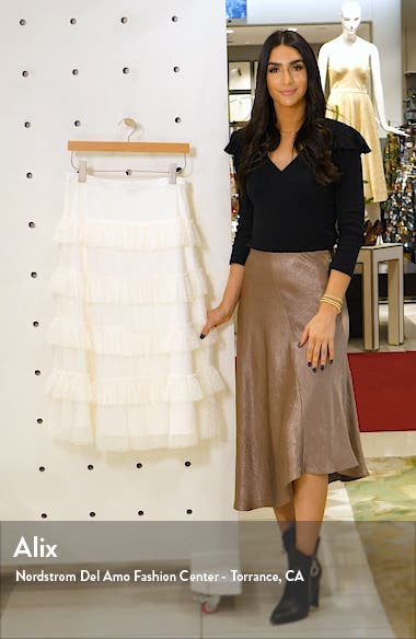 Tiered Dot Mesh Skirt, sales video thumbnail
