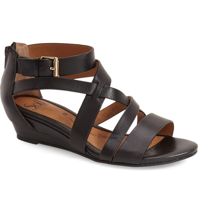 SÖFFT 'Rianna' Wedge Sandal, Main, color, 001