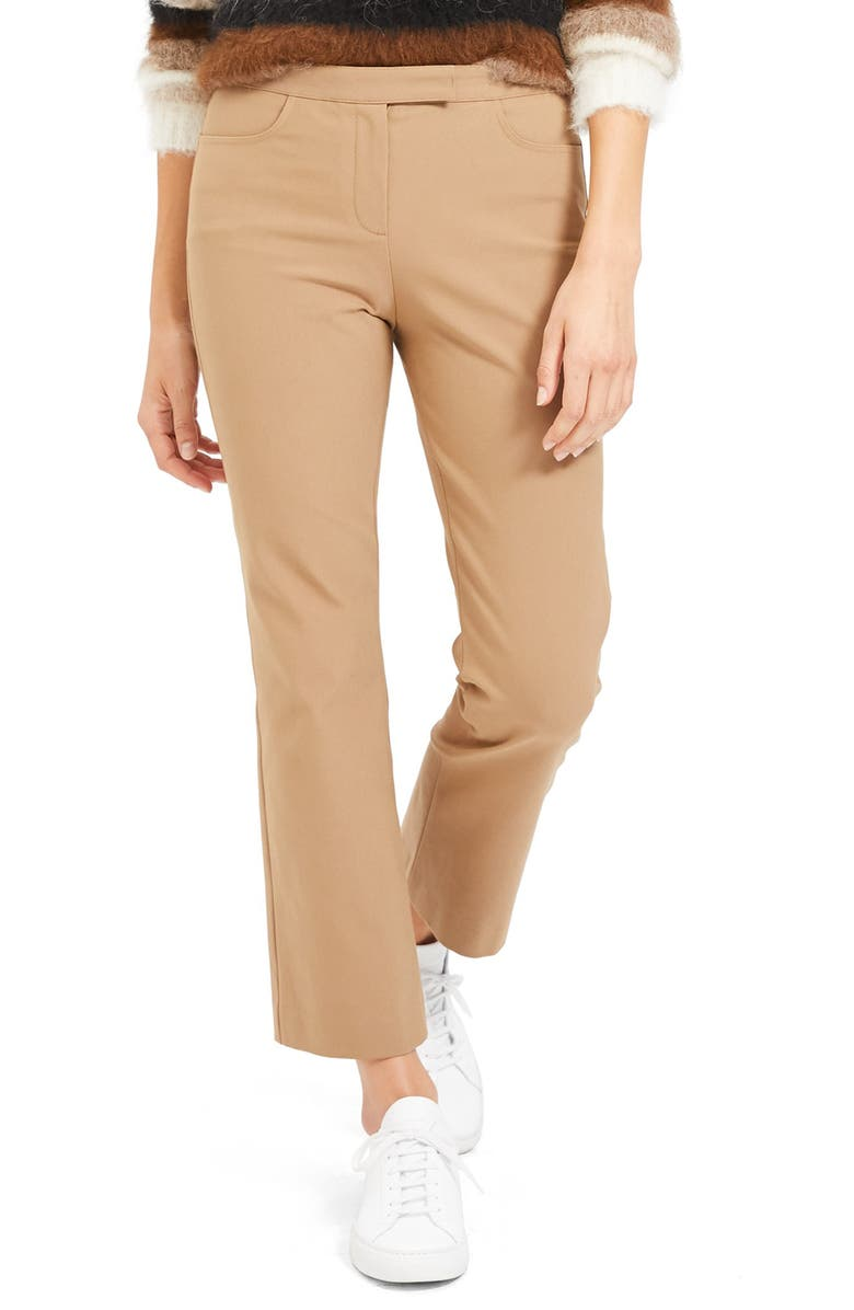 THEORY Crop Pants, Main, color, CLASSIC CAMEL