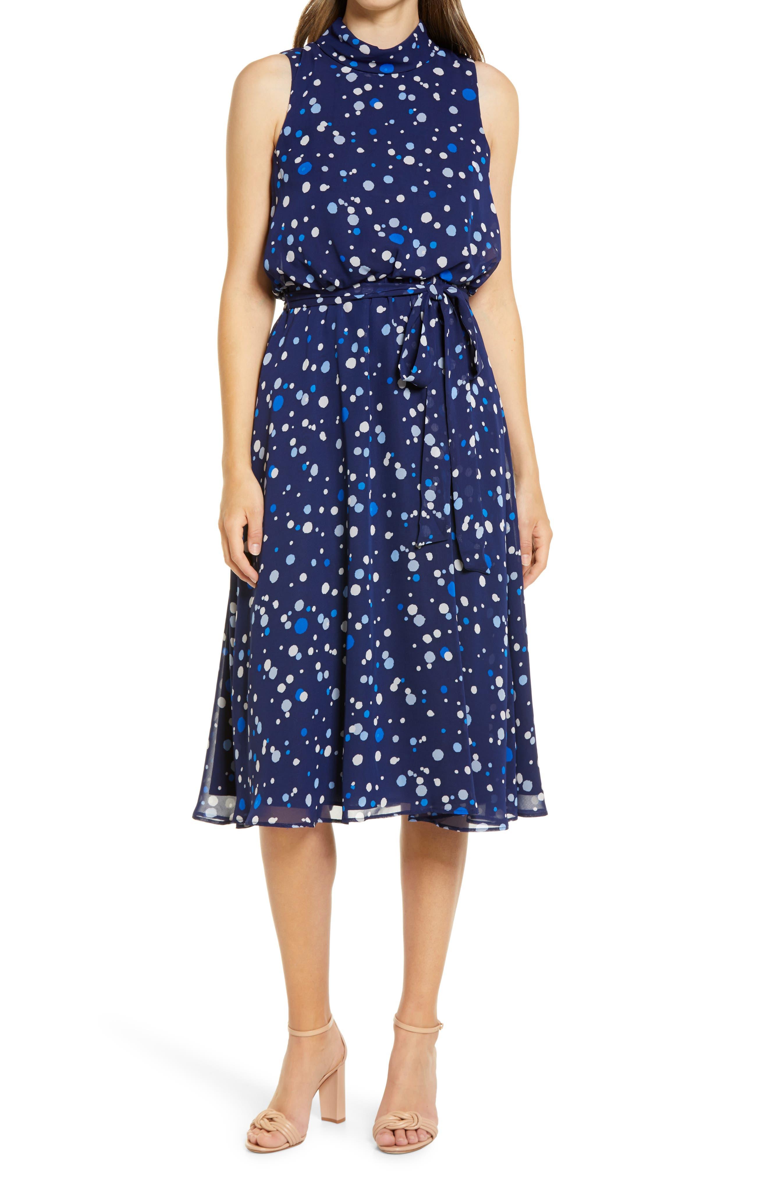 Sleeveless Tie Waist Midi Dress