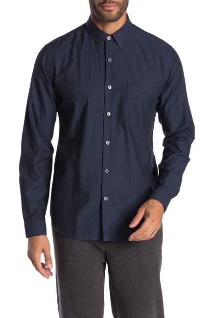 Image of Theory Rammy Long Sleeve Slim Fit Shirt