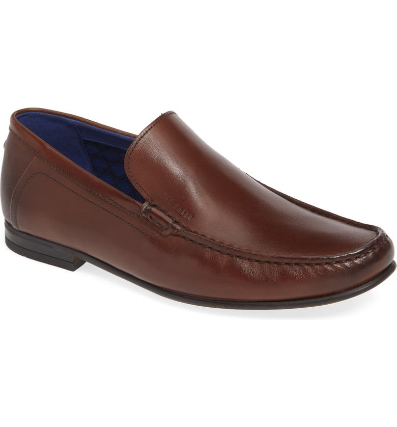 TED BAKER LONDON Lassil Loafer, Main, color, BROWN LEATHER