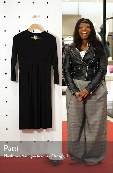 Matte Jersey Fit & Flare Dress, sales video thumbnail