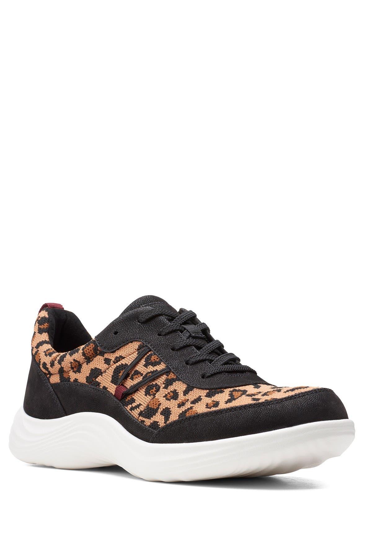 Image of Clarks Lulu Leopard Print Walking Shoe