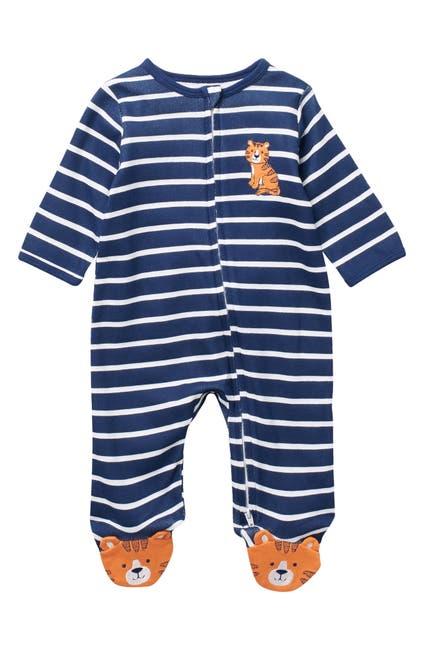 Image of Little Me Stripe Tiger Footie