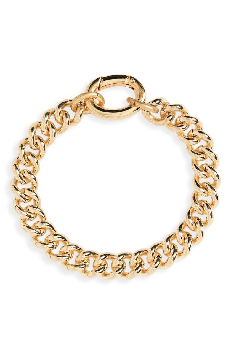 LAURA LOMBARDI Presa Bracelet, Main, color, BRASS