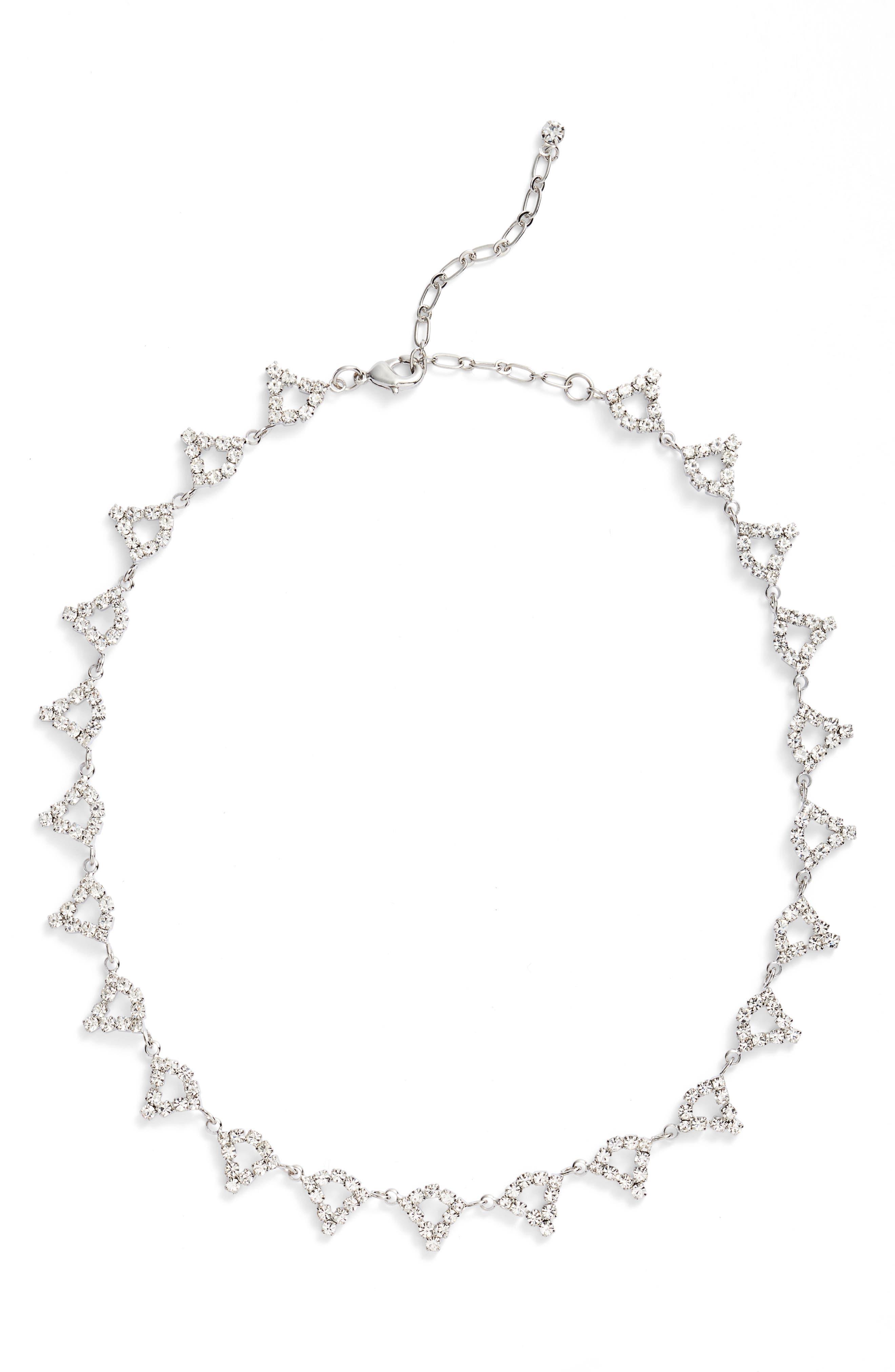 Open Teardrop Station Necklace