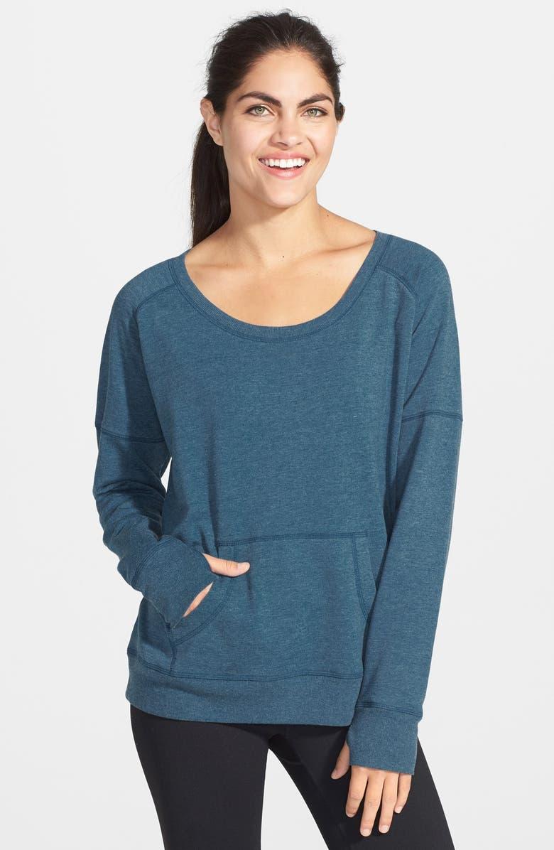 ZELLA 'Heart It' French Terry Sweatshirt, Main, color, 410