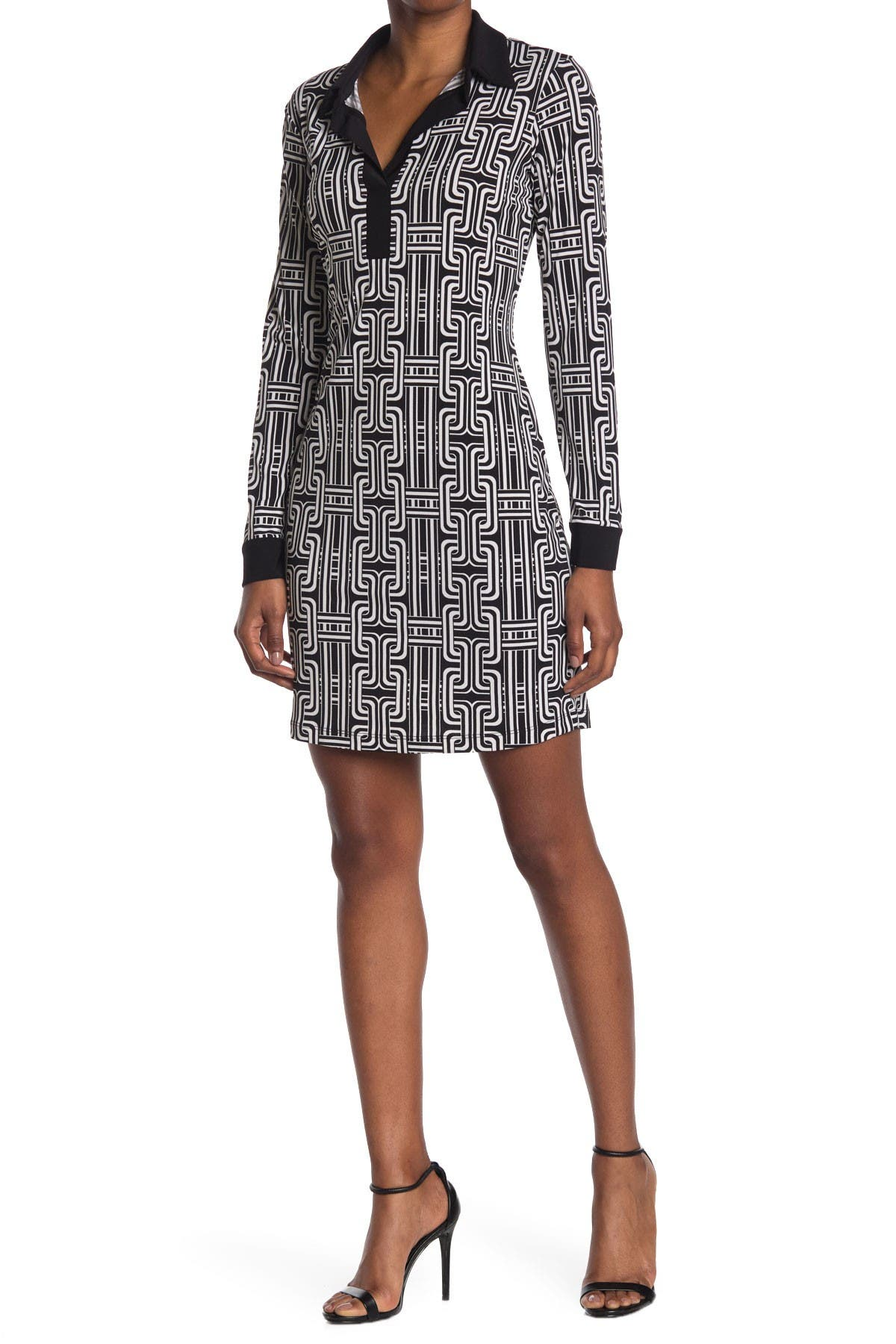 Image of TASH + SOPHIE Collared Shirt Dress