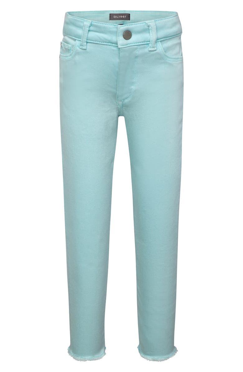 DL1961 Chloe Raw Hem Skinny Jeans, Main, color, 400