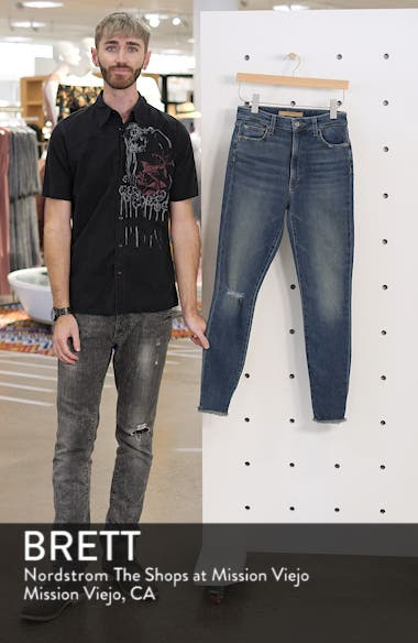 Bella High Waist Ripped Ankle Skinny Jeans, sales video thumbnail