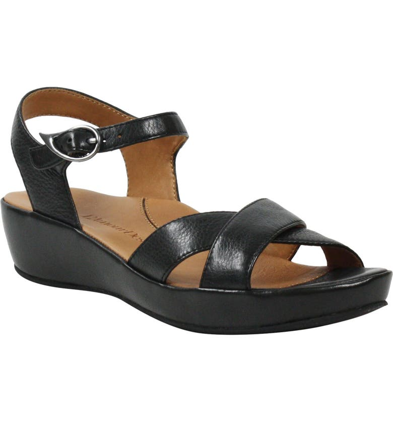 L'AMOUR DES PIEDS Casimiro Sandal, Main, color, BLACK LEATHER