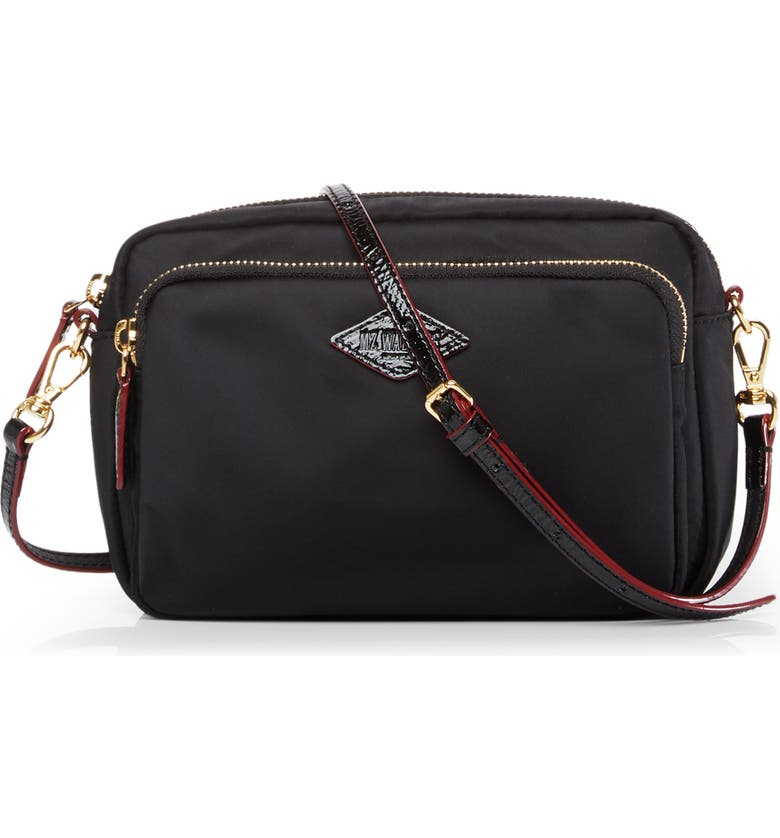 MZ WALLACE Small Gramercy Crossbody Bag, Main, color, BLACK