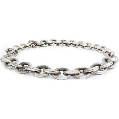 Title Of Work Sterling Silver Cable Chain Bracelet