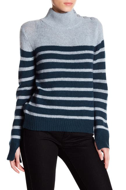 Image of 360 Cashmere Lilith Mock Neck Cashmere Sweater