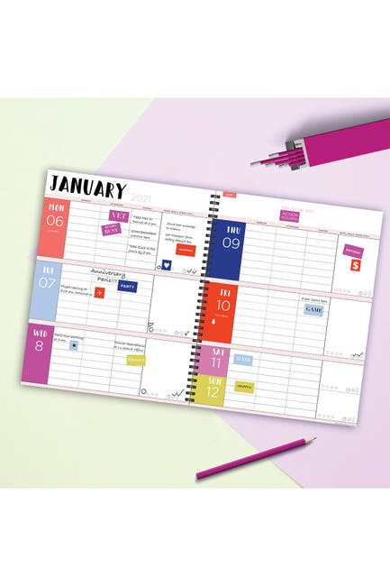 Image of TF Publishing 2021 Pink from the Block Large Weekly Monthly Planner