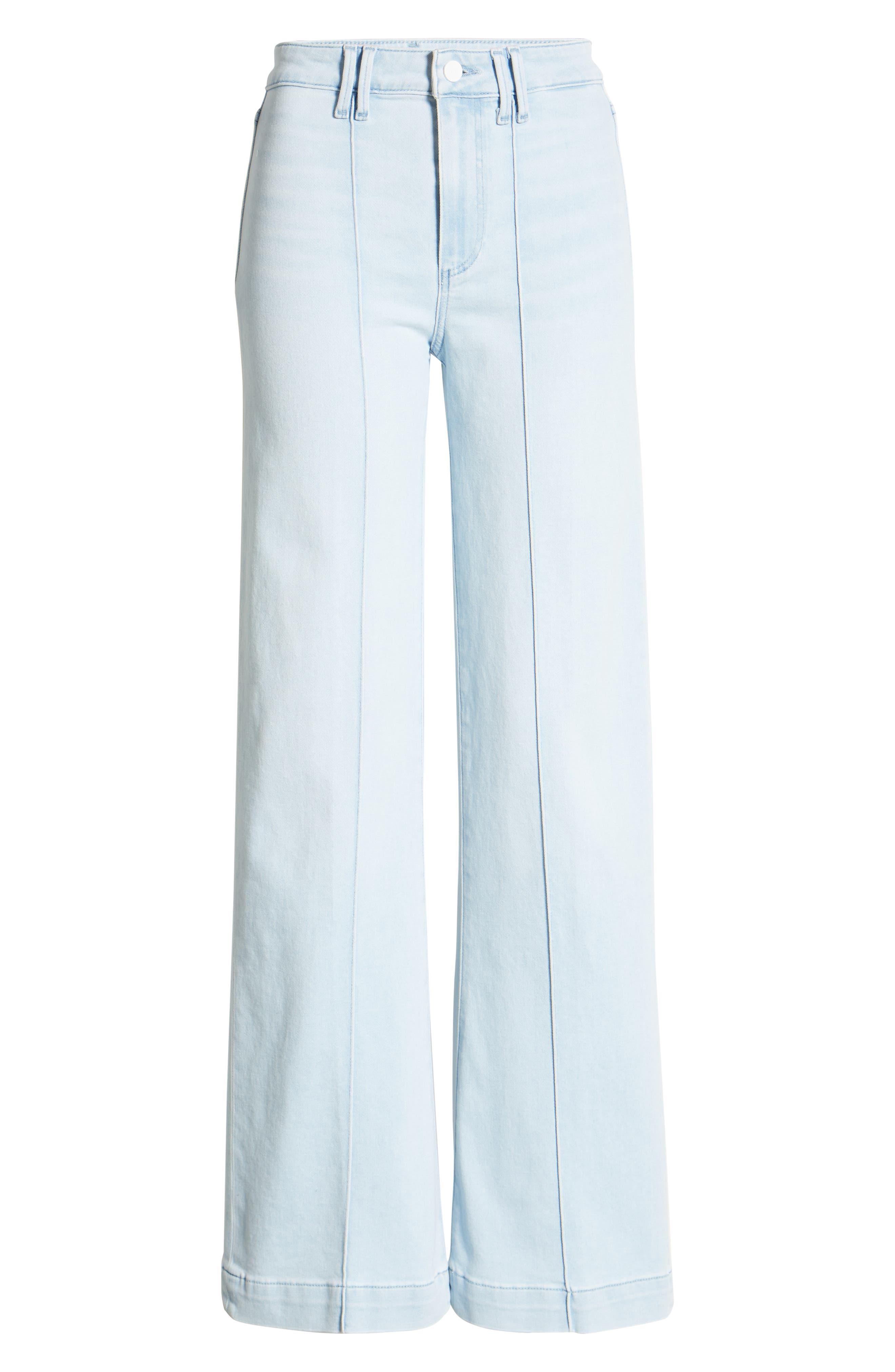 Women's Paige Leenah Pintuck High Waist Flare Jeans
