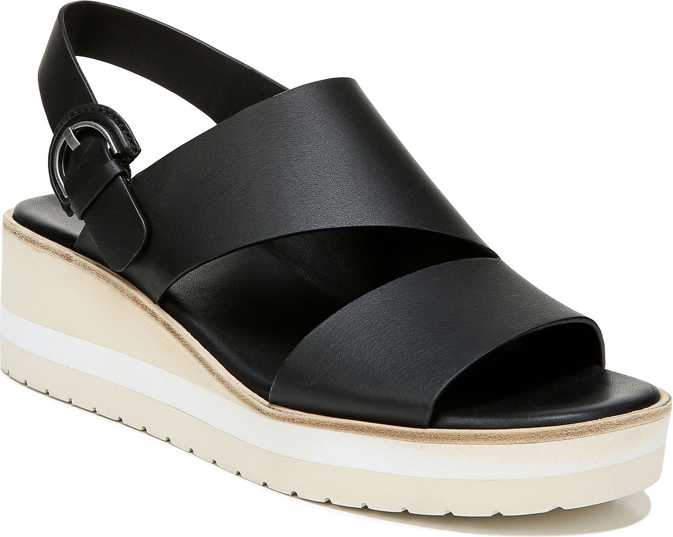 Vince Womens Shelby Wedge Sandals