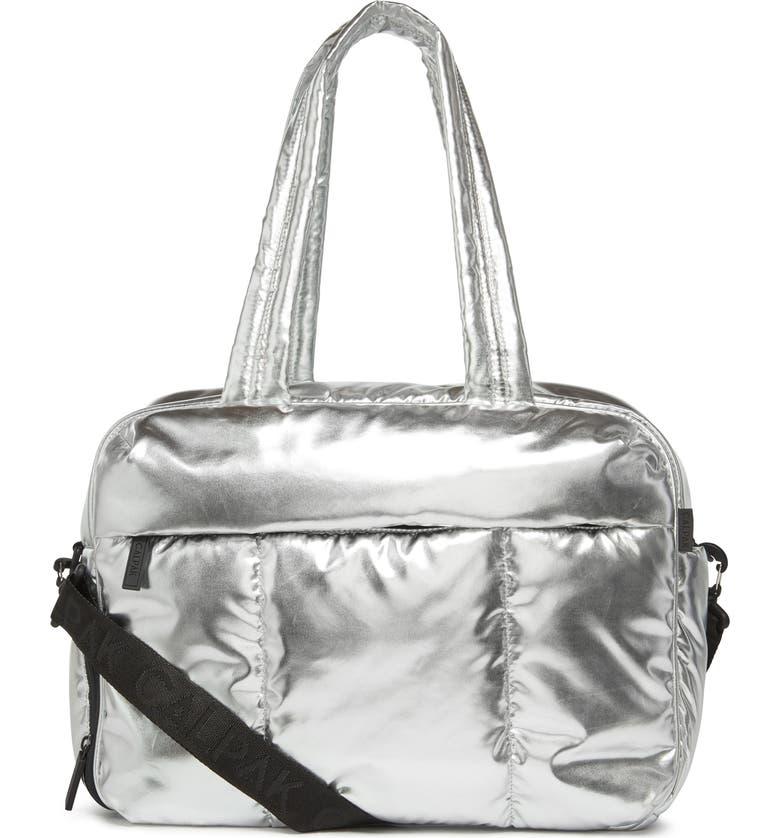 CALPAK Luka Soft Side Duffle Bag, Main, color, METALLIC SILVER