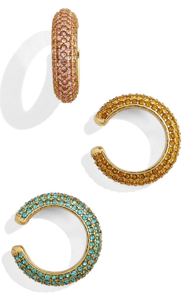 BAUBLEBAR Elsa Set of 3 Ear Cuffs, Main, color, GOLD MULTI