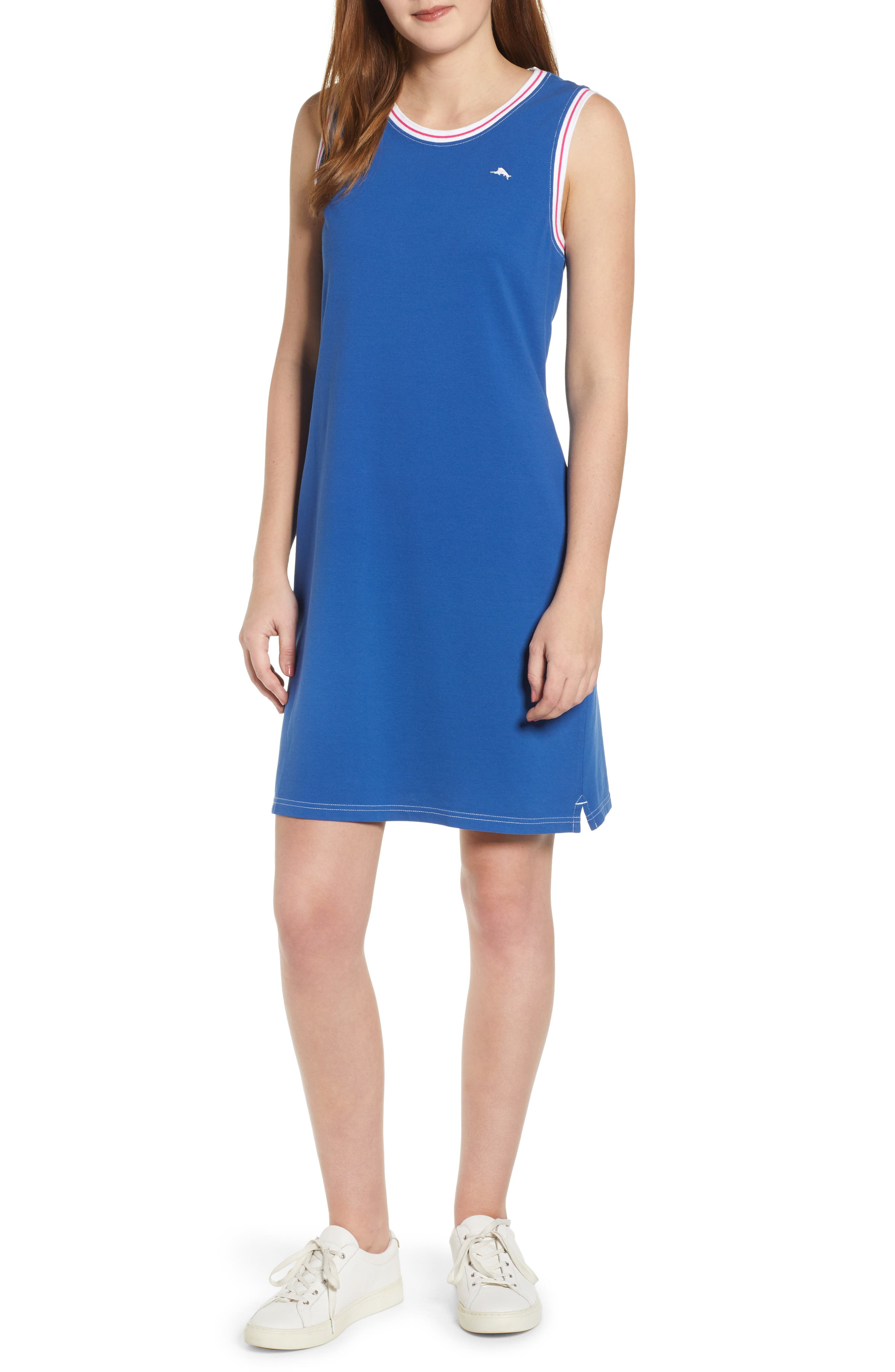 Tommy Bahama Paradise Classic Sleeveless Dress, Blue