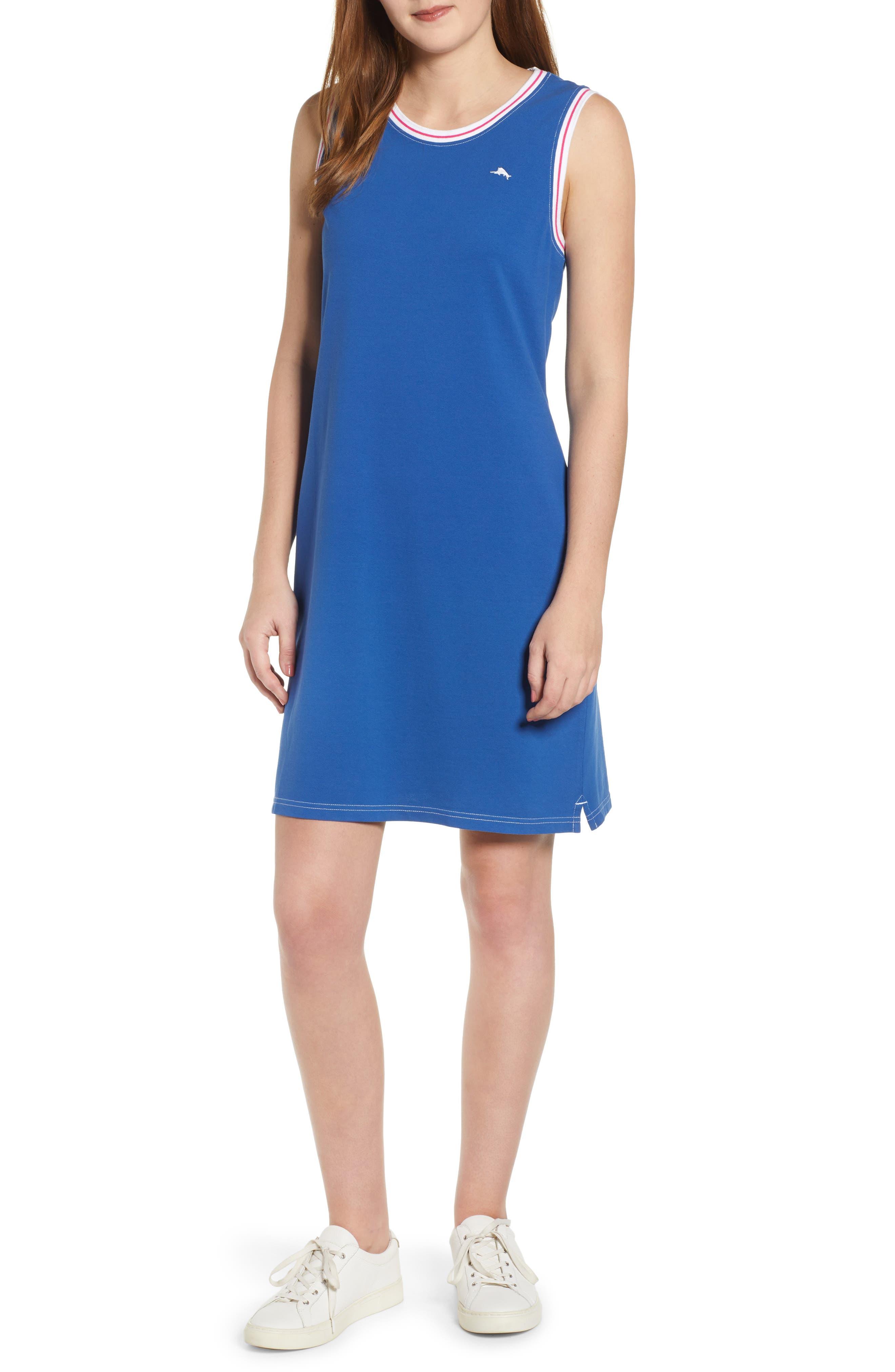,                             Paradise Classic Sleeveless Dress,                             Main thumbnail 1, color,                             MONACO BLUE