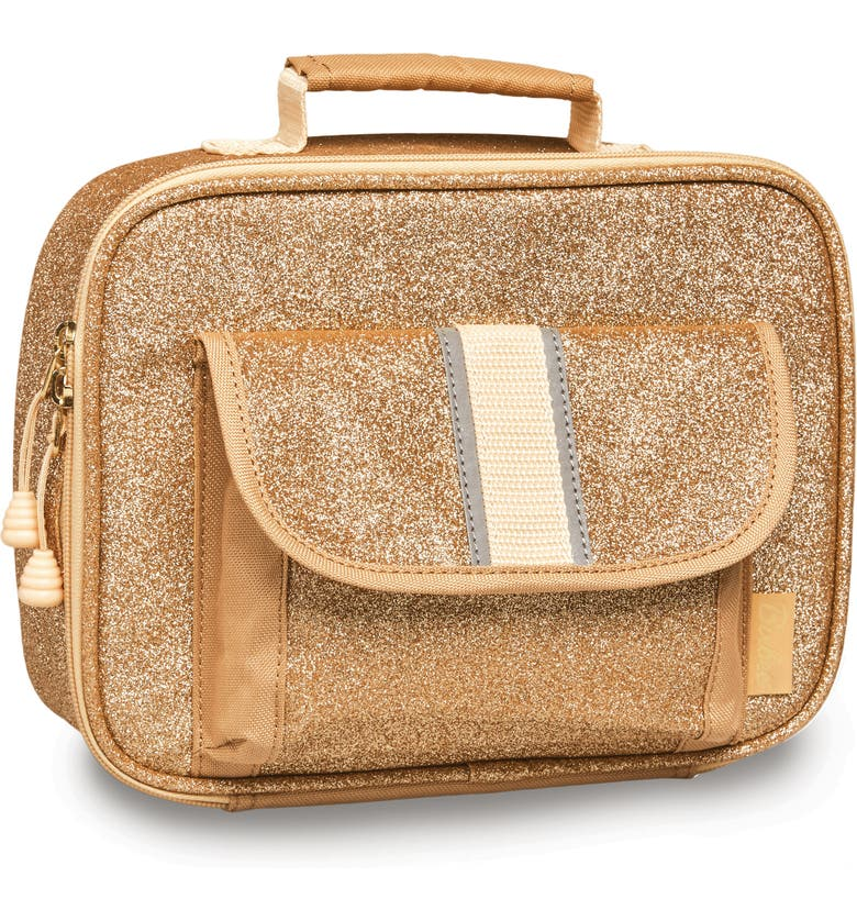 BIXBEE Sparkalicious Water Resistant Lunch Box, Main, color, GOLD