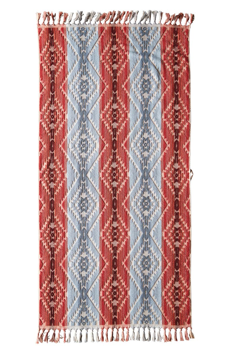 PENDLETON Sculpted Jacquard Bath Towel, Main, color, DESERT SKY