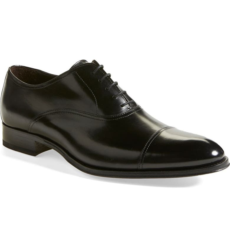 TO BOOT NEW YORK Brandon Cap Toe Oxford, Main, color, BLACK LEATHER
