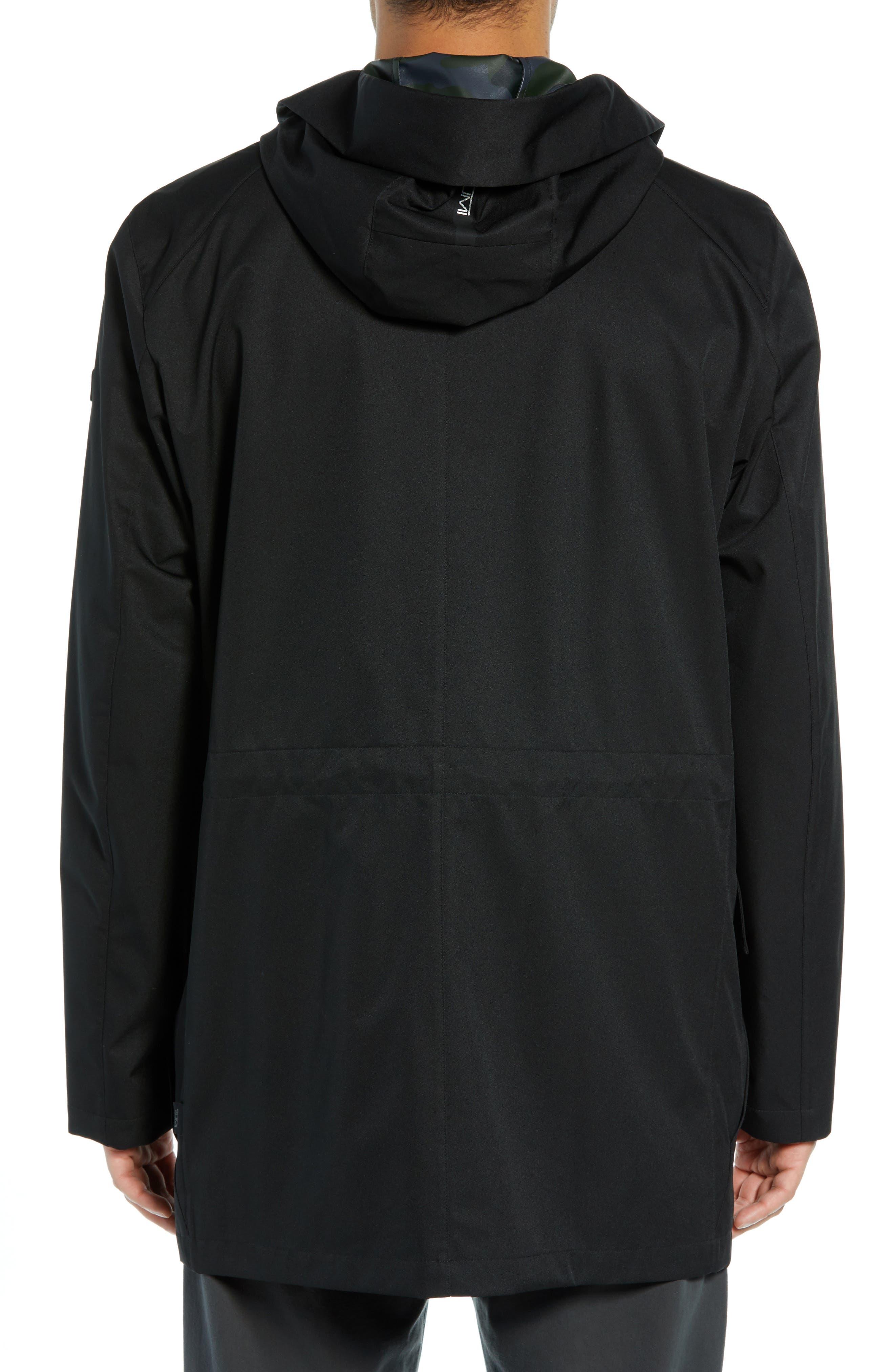 ,                             Packable Water-Resistant Raincoat,                             Alternate thumbnail 2, color,                             BLACK