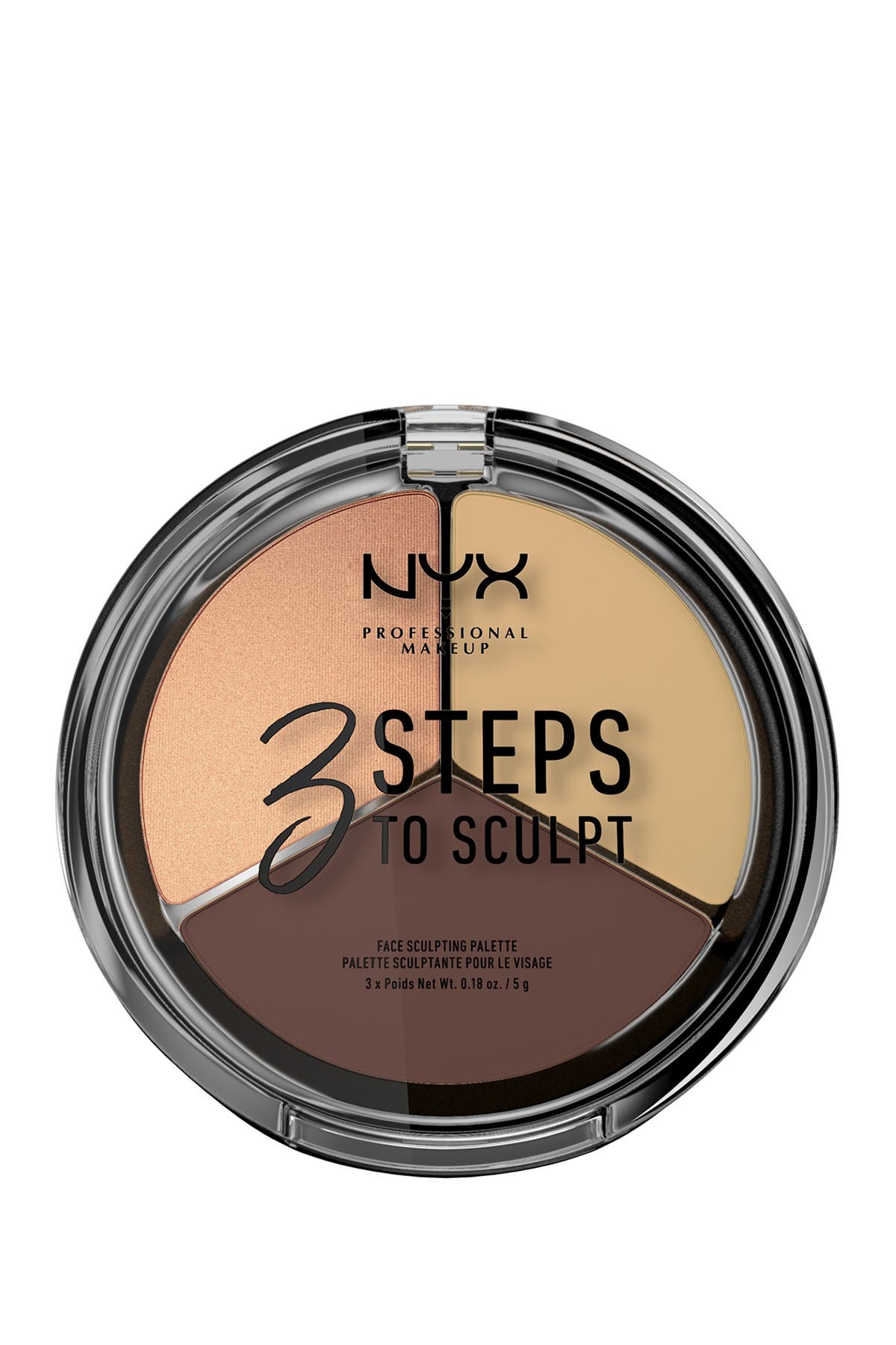 Image of NYX COSMETICS 3 Steps to Sculpt Face Sculpting Palette - Medium