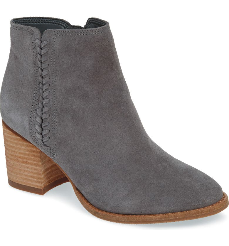 Nina Waterproof Suede Boot, Main, color, DARK GREY SUEDE