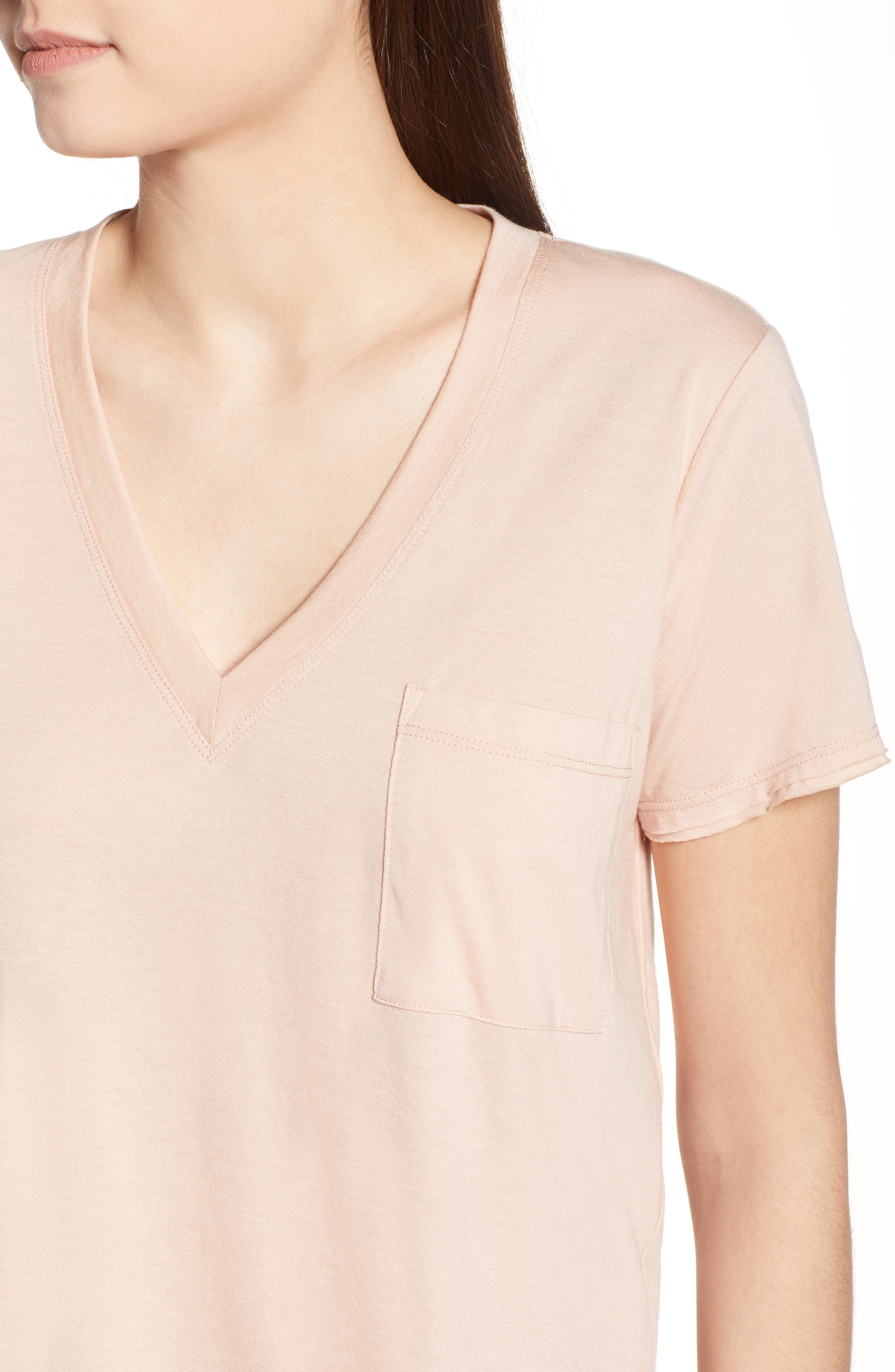 ,                             Raw Edge Side Slit Tee,                             Alternate thumbnail 10, color,                             650