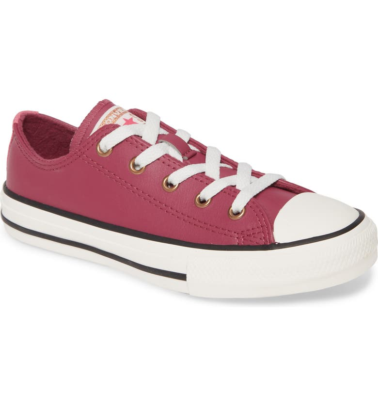 CONVERSE Chuck Taylor<sup>®</sup> All Star<sup>®</sup> Mission Leather Low Top Sneaker, Main, color, MESA ROSE/ MOD PINK
