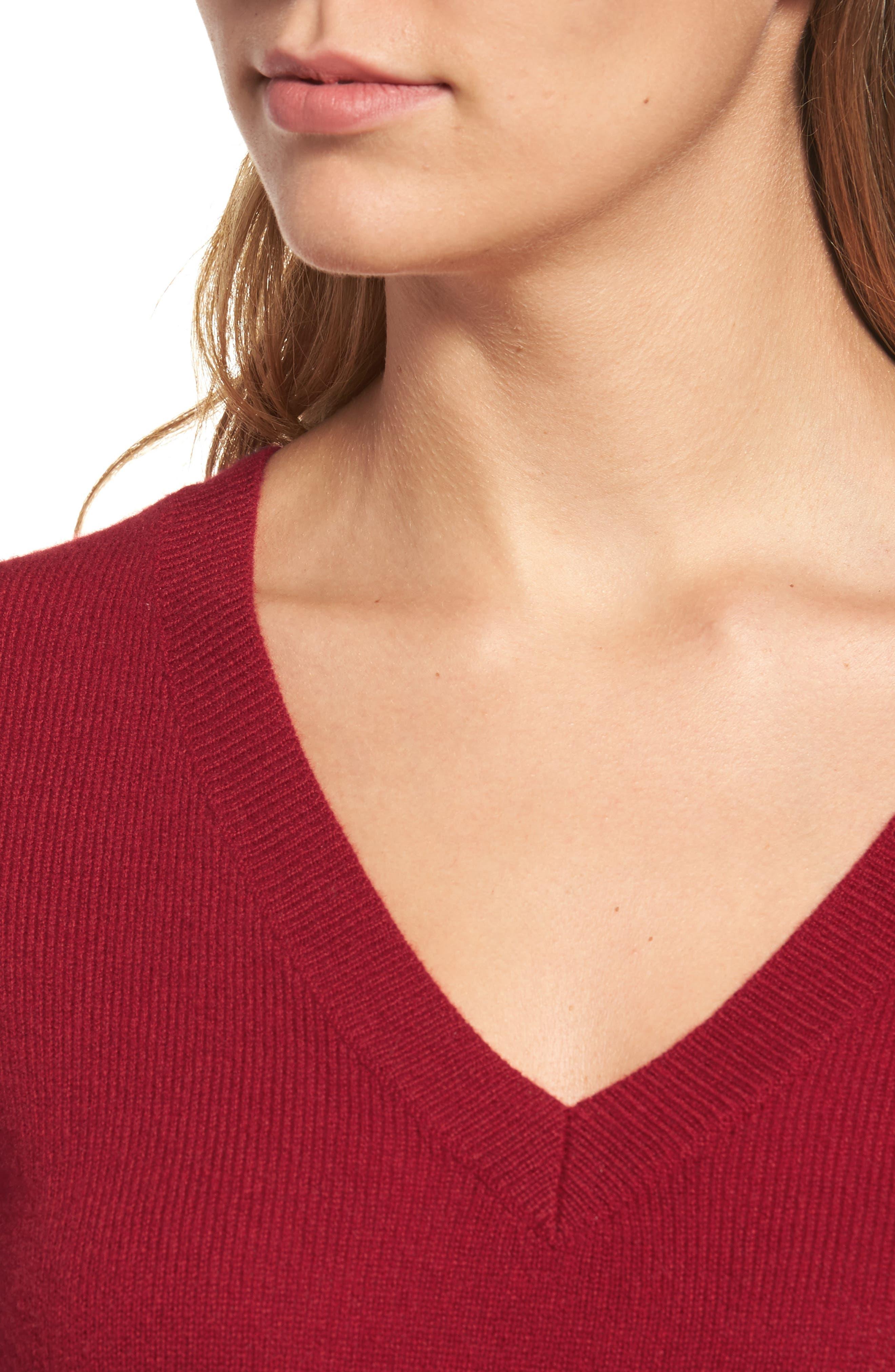,                             V-Neck Cashmere Sweater,                             Alternate thumbnail 95, color,                             601