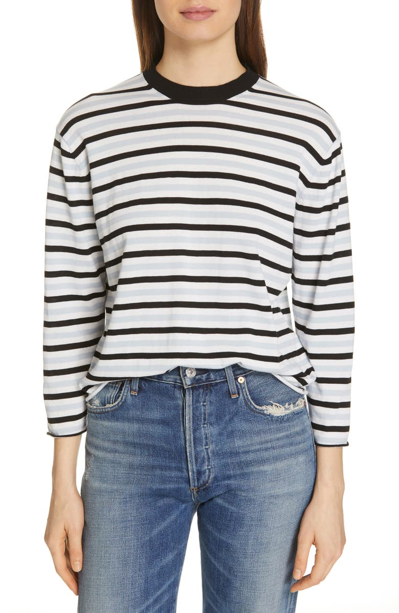 ATM ANTHONY THOMAS MELILLO Stripe Sweater, Main, color, 120
