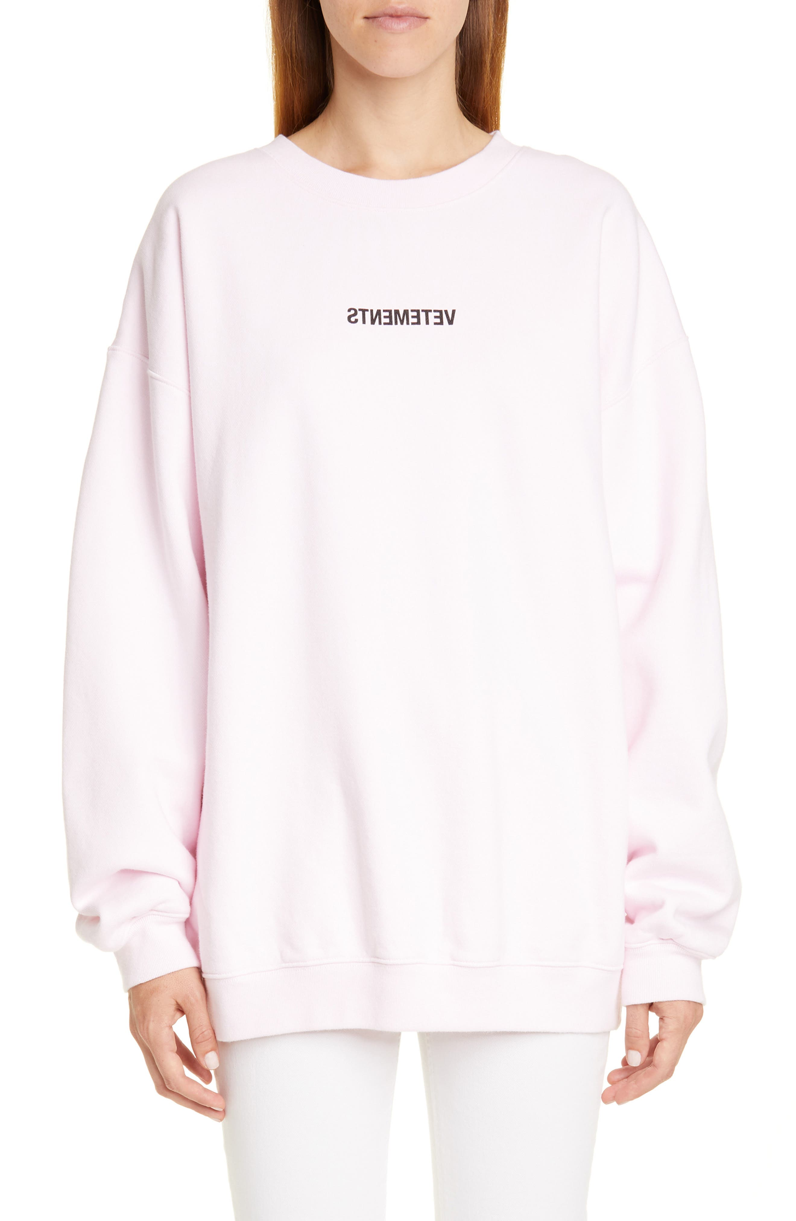Vetements Shirts Inverted Logo Sweatshirt
