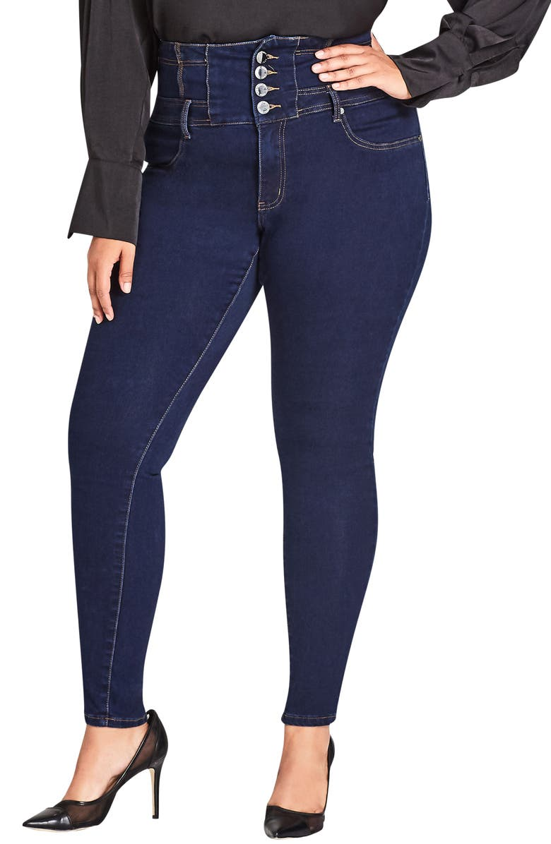 outstanding features high fashion search for newest Harley Corset Waist Stretch Skinny Jeans