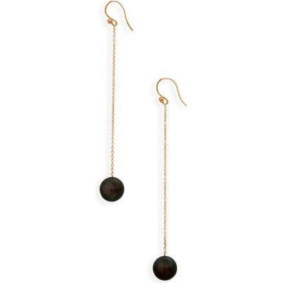 Mizuki Tahitian Pearl Chain Drop Earrings