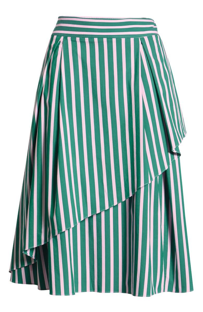 HALOGEN<SUP>®</SUP> x Atlantic-Pacific Stripe Asymmetrical Skirt, Main, color, 310