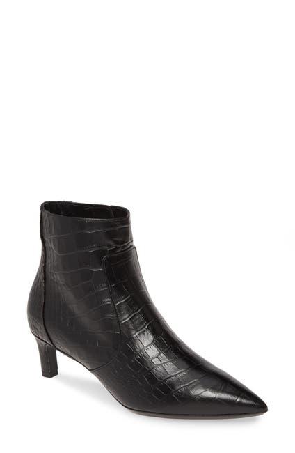 Image of Aquatalia Marilisa Croc Embossed Leather Bootie