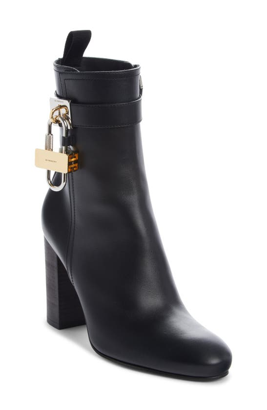 Givenchy Lock Bootie In Black