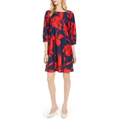 Halogen Flowy Shift Dress, Blue
