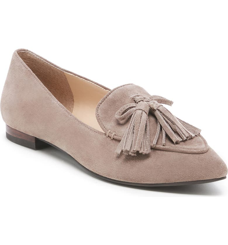 SOLE SOCIETY Hadlee Loafer, Main, color, FALL TAUPE/ BROWN SUEDE