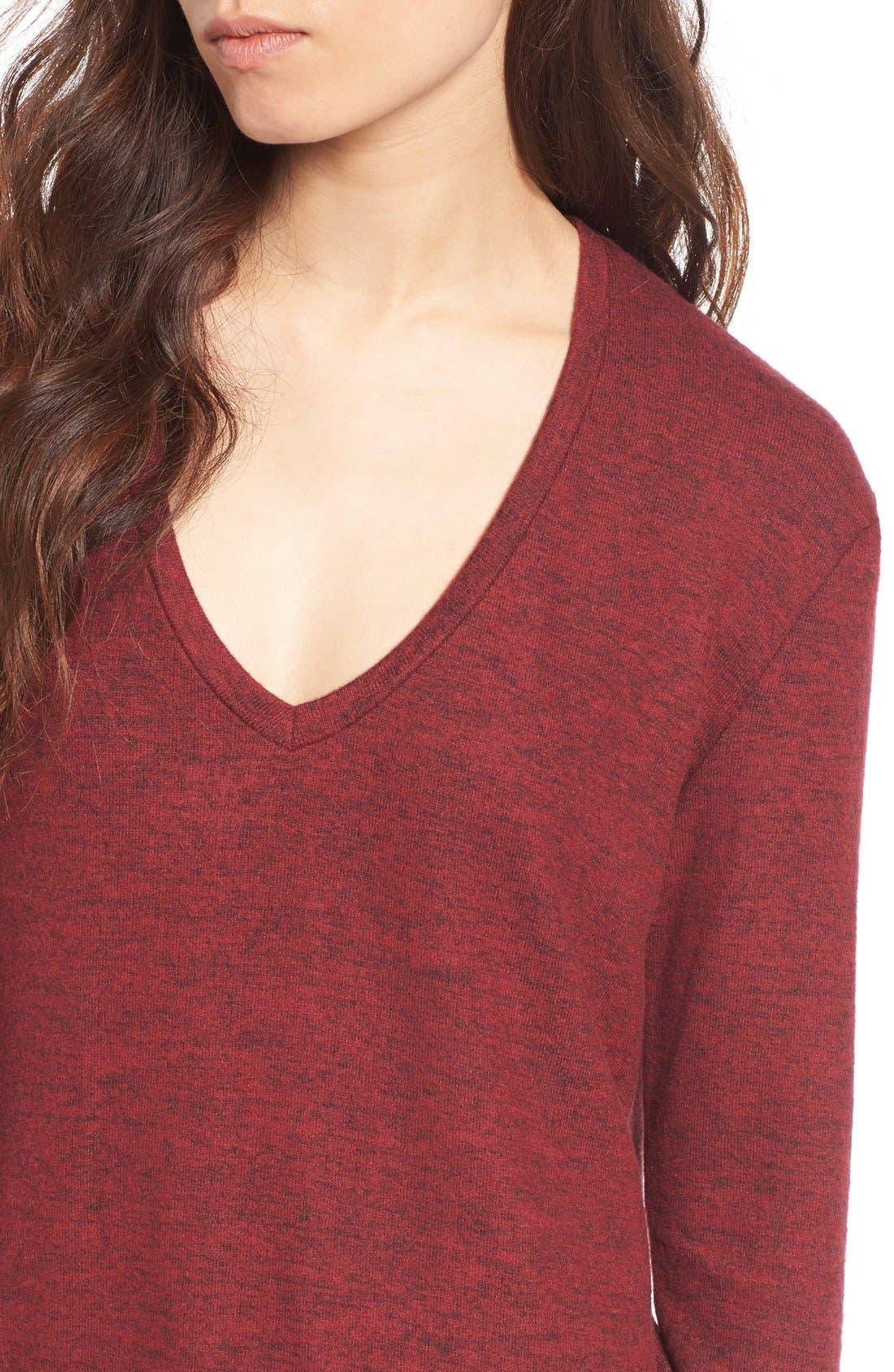 ,                             Cozy V-Neck Sweater,                             Alternate thumbnail 65, color,                             601