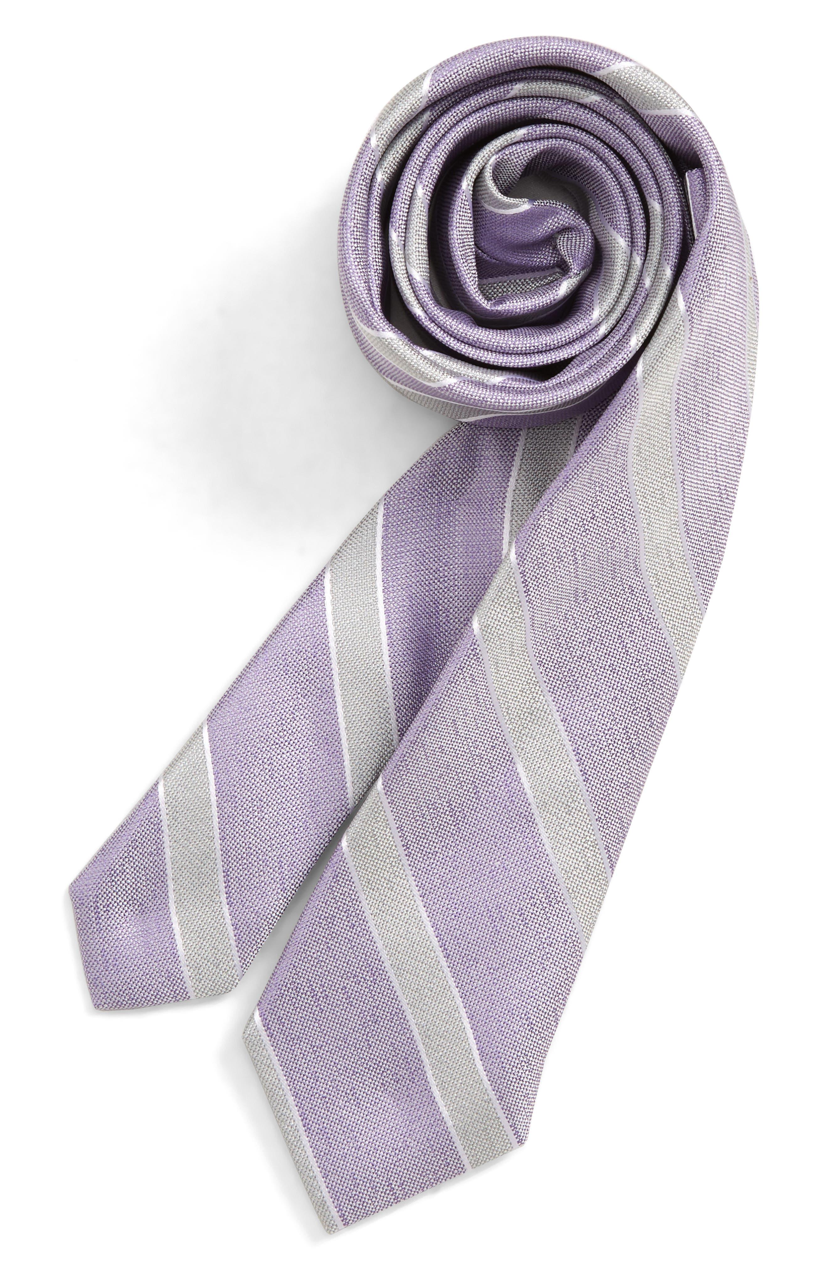 Boys Nordstrom Anthony Stripe Silk Tie Size Big Boy  Blue