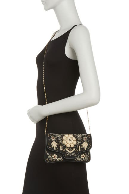 Image of Ricki Designs Fine Thread Embroidered Crossbody Bag